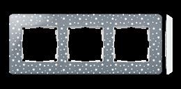 Ramka 3- krotna biały szary zimny-250796