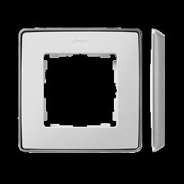 Ramka 1- krotna aluminium biały-250812