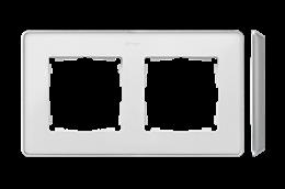 Ramka 2- krotna aluminium biały-250824