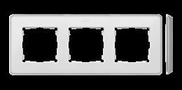 Ramka 3- krotna aluminium biały-250849