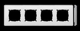 Ramka 4- krotna aluminium biały-250850