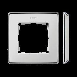 Ramka 1- krotna biały chrom-250813