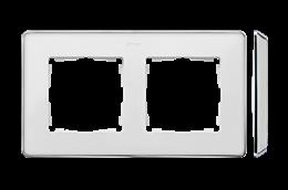 Ramka 2- krotna biały chrom-250825