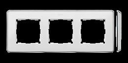 Ramka 3- krotna biały chrom-250851
