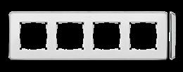 Ramka 4- krotna biały chrom-250874