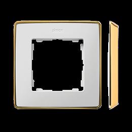 Ramka 1- krotna biały złoty-250814