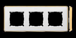 Ramka 3- krotna biały złoty-250852
