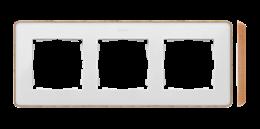 Ramka 3- krotna biały drewno-250853