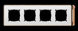 Ramka 4- krotna biały drewno-250876