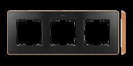Ramka 3- krotna drewno grafit-250857