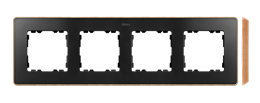 Ramka 4- krotna drewno grafit-250880
