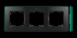 Ramka 3- krotna grafit zielony-250858