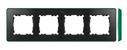 Ramka 4- krotna grafit zielony-250881