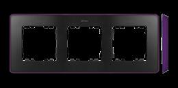 Ramka 3- krotna fioletowy grafit-250859