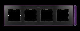 Ramka 4- krotna fioletowy grafit-250882