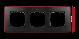Ramka 3- krotna czerwony grafit-250860