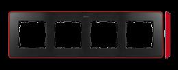 Ramka 4- krotna czerwony grafit-250883
