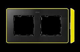 Ramka 2- krotna grafit jasny żółty-250843