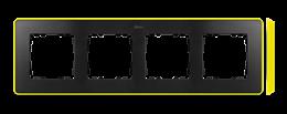 Ramka 4- krotna grafit jasny żółty-250886