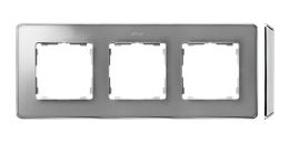 Ramka 3- krotna aluminium zimne chrom-250865