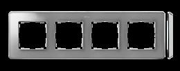 Ramka 4- krotna aluminium zimne chrom-250887
