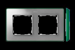 Ramka 2- krotna aluminium zimne zielony-250866