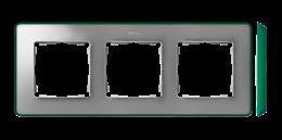 Ramka 3- krotna aluminium zimne zielony-250867