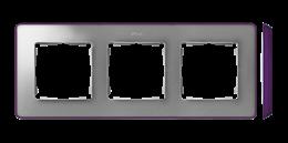 Ramka 3- krotna aluminium zimne fioletowy-250869