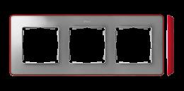 Ramka 3- krotna aluminium zimne czerwony-250871