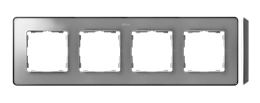 Ramka 4- krotna aluminium zimne grafit-250891