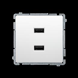 Ładowarka USB podwójna biały 2,1A-254233