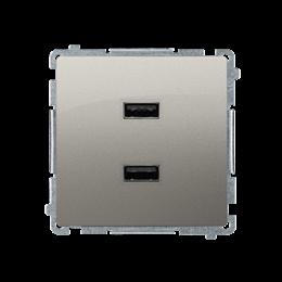 Ładowarka USB podwójna satynowy, metalizowany 2,1A-254237