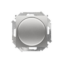 Ściemniacz do LED ściemnialnych, naciskowo-obrotowy, jednobiegunowy aluminiowy, metalizowany W układzie schodowym:Tak-254637