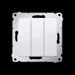Przycisk potrójny z podświetleniem (moduł) 10AX 250V, szybkozłącza, biały-252237