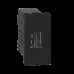 Ładowarka USB K45 USB 2.0 - A 5V DC 1,5A 45×22,5mm grafit-256534
