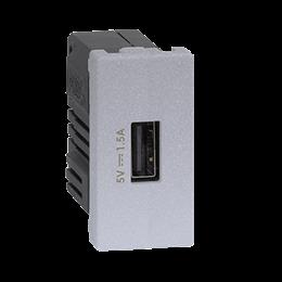 Ładowarka USB K45 USB 2.0 - A 5V DC 1,5A 45×22,5mm aluminium-256536