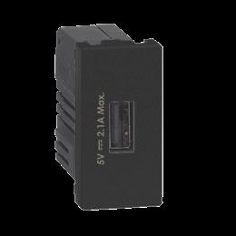 Ładowarka USB K45 USB 2.0 - A 5V DC 2,1A 45×22,5mm grafit-256537