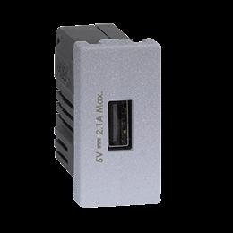 Ładowarka USB K45 USB 2.0 - A 5V DC 2,1A 45×22,5mm aluminium-256538