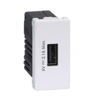 Ładowarka USB K45 USB 2.0 - A 5V DC 2,1A 45×22,5mm czysta biel-256539