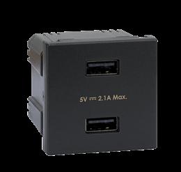 Ładowarka USB K45 USB 2.0 - A 5V DC 2,1A 45×45mm grafit-256517