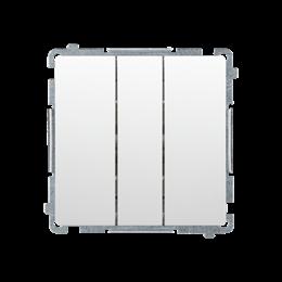 Łacznik potrójny z podświetleniem LED nie wymienialny kolor: niebieski (moduł) 10AX 250V, szybkozłącza, biały-253452