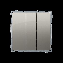Łacznik potrójny z podświetleniem LED nie wymienialny kolor: niebieski (moduł) 10AX 250V, szybkozłącza, satynowy, metalizowany-2
