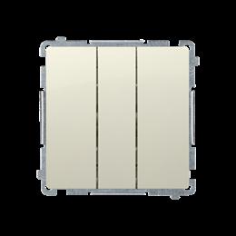 Przycisk potrójny z podświetleniem LED nie wymienialny kolor: niebieski (moduł) 10AX 250V, szybkozłącza, beżowy-253484