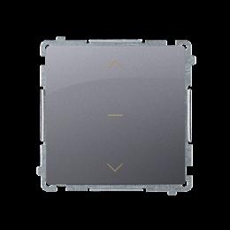 Łącznik żaluzjowy pojedynczy trójpozycyjny (1-0-2) (moduł) 10A 250V, szybkozłącza, srebrny mat, metalizowany-253676