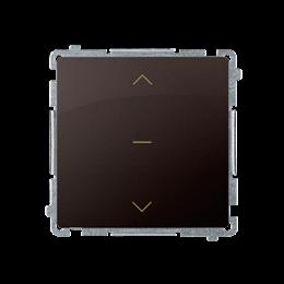 Łącznik żaluzjowy pojedynczy trójpozycyjny (1-0-2) (moduł) 10A 250V, szybkozłącza, czekoladowy mat, metalizowany-253677