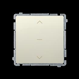 Łącznik żaluzjowy pojedynczy trójpozycyjny (1-0-2) (moduł) 10A 250V, szybkozłącza, beżowy-253678