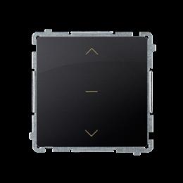 Łącznik żaluzjowy pojedynczy trójpozycyjny (1-0-2) (moduł) 10A 250V, szybkozłącza, grafit mat, metalizowany-253679
