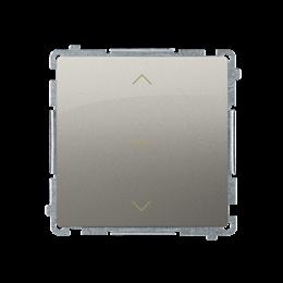 Łącznik żaluzjowy pojedynczy trójpozycyjny (1-0-2) (moduł) 10A 250V, szybkozłącza, satynowy, metalizowany-253680
