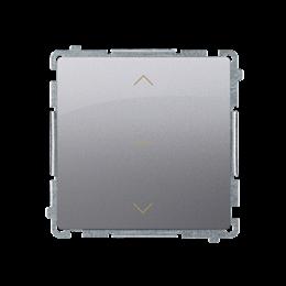 Łącznik żaluzjowy pojedynczy trójpozycyjny (1-0-2) (moduł) 10A 250V, szybkozłącza, inox, metalizowany-253681