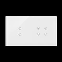 Panel dotykowy 2 moduły 2 pola dotykowe pionowe, 4 pola dotykowe, biała perła-251727